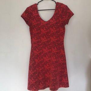 Topshop Coral Skater Dress